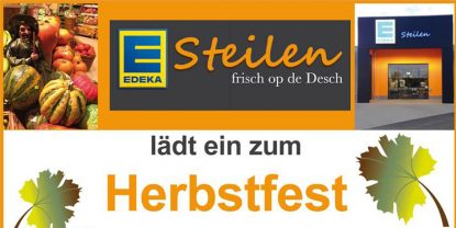 Herbstfest bei EDEKA Steilen in Flamersheim am 28. & 29. Oktober 2016