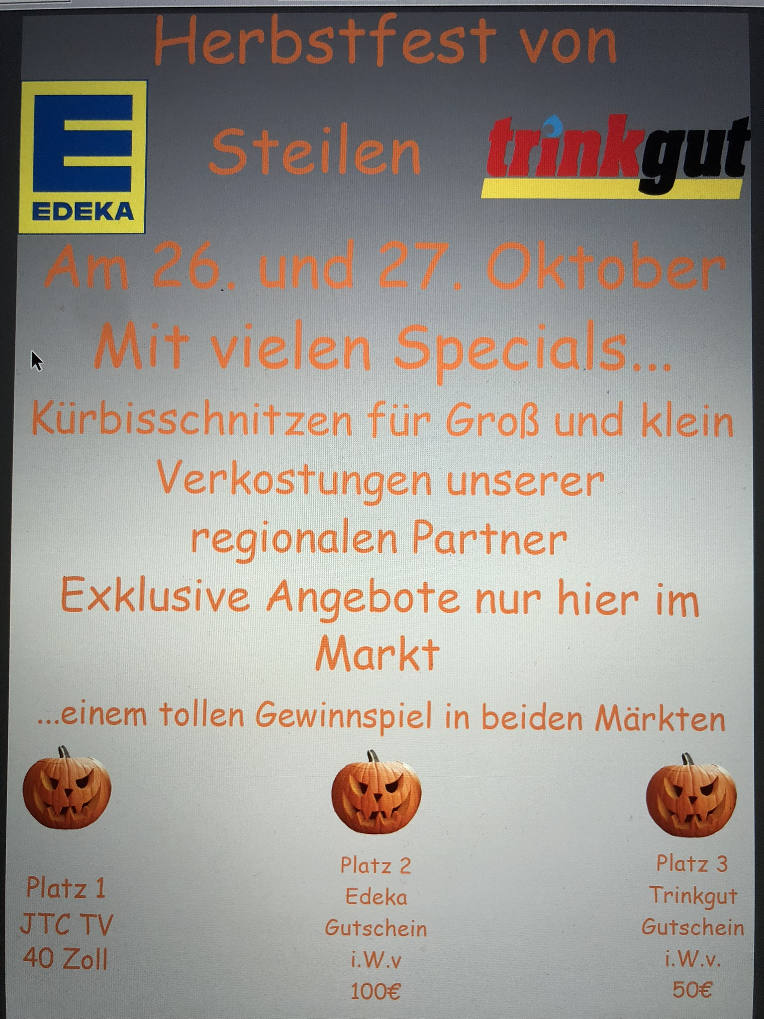 Herbstfest bei EDEKA & trinkgut Steilen
