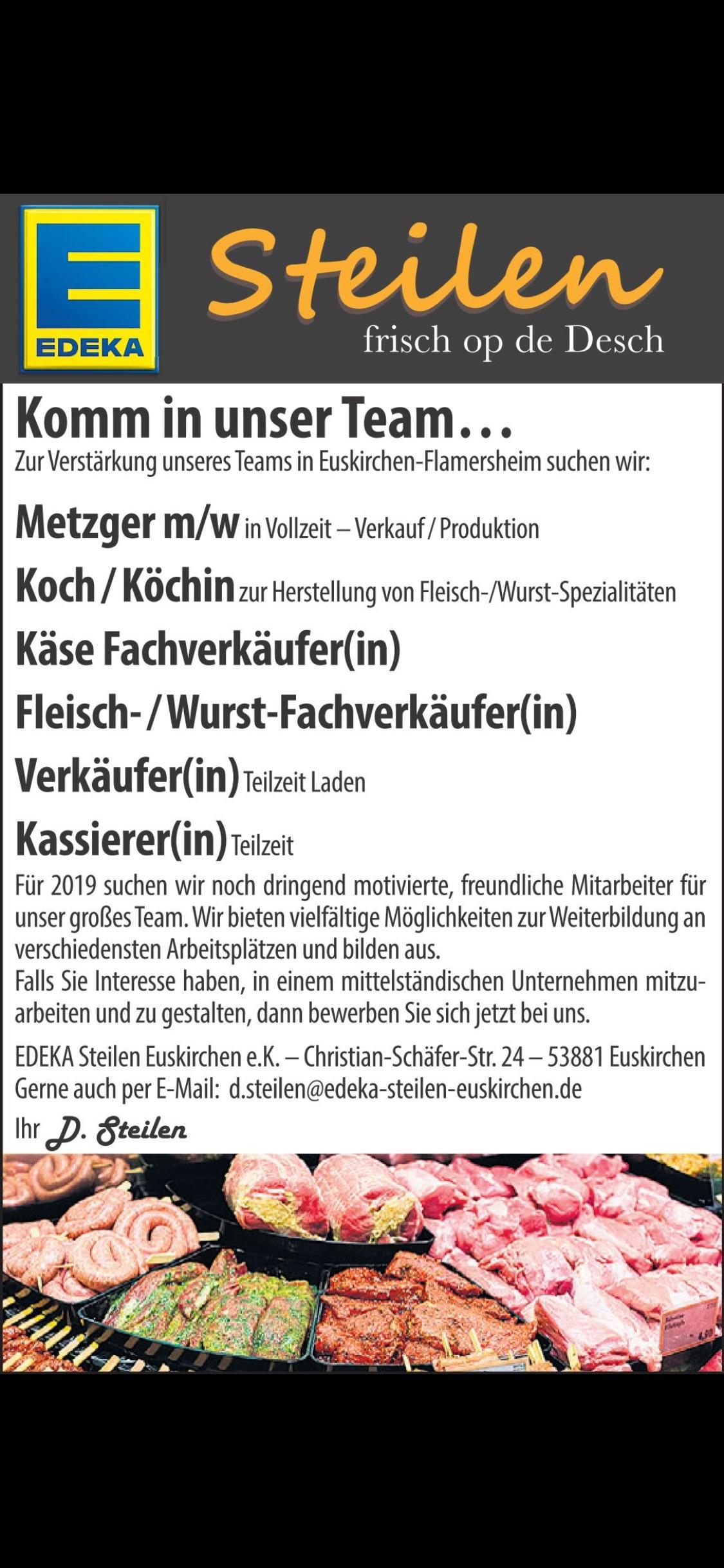 Wir suchen für unser Team…